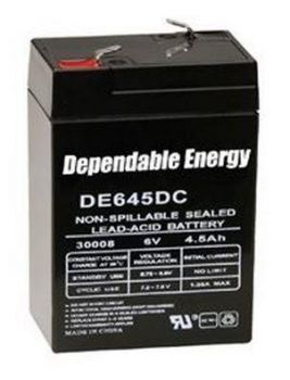 American-Hunter-Feeder-Battery-6V-Recharge-4.5-Amp-Hr-With-Post ABL640T